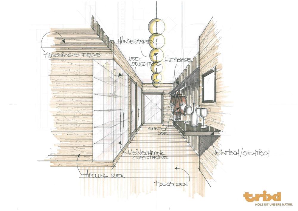 Innenarchitektur Zeichnungen innenarchitektur trixl einrichtung